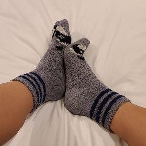 Well Worn Fuzzy Raccoon Socks 🦝